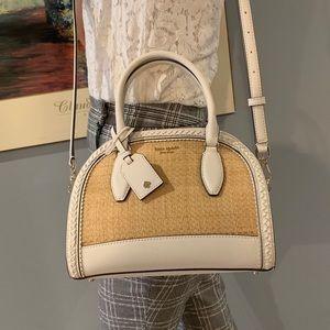 Kate Spade Reiley straw medium dome satchel